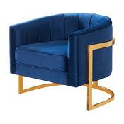 Carter Accent Chair - Navy Velvet