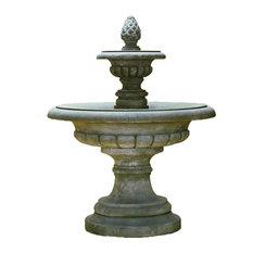 Fontana Grande Cast Stone Outdoor Garden  Fountain, Toscano (TO)