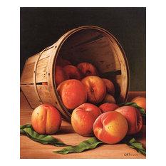 """Basket Of Peaches2"" Art, 20""x18"""
