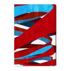 """""""Spiral Paths"""" Canvas Art Print, 50x75 cm"""