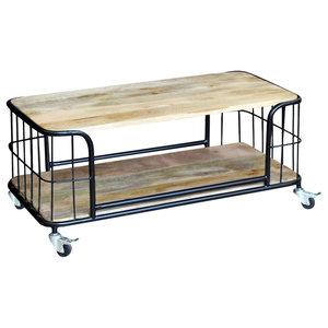 vidaXL Solid Mango Wood Coffee Table, 100x50x35 cm