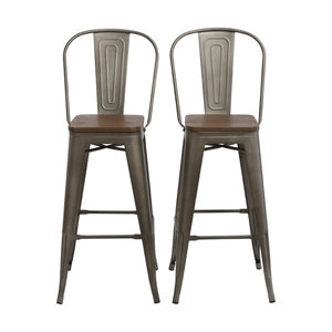Sale Btexpert 30 Metal Antique Bronze Rustic Barstool Chair High