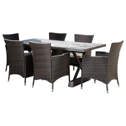 Perfect Transitional Outdoor Dining Sets by GDFStudio
