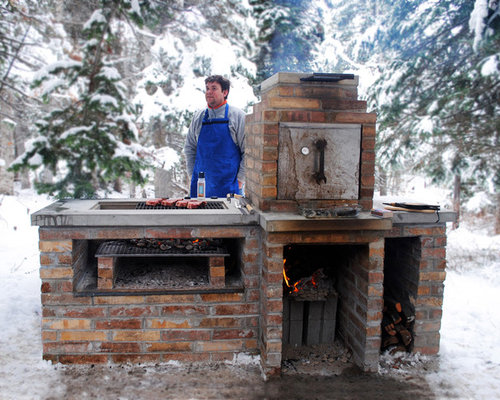 Affordable Trendy Home Design Photo In Salt Lake City With Built In Smoker  Outdoor Kitchen