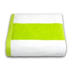 Tropical Cabana 100% Cotton Beach Towel, Lime