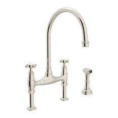 rohl rohl u4718xpn2 bridge faucet cross handles and