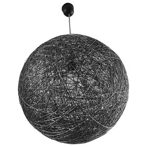 Sphere Modern Pendant Light, Black, Medium