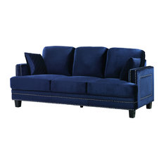 contemporary sofas   couches houzz rolled arm sofa with nailhead trim rolled arm sofa