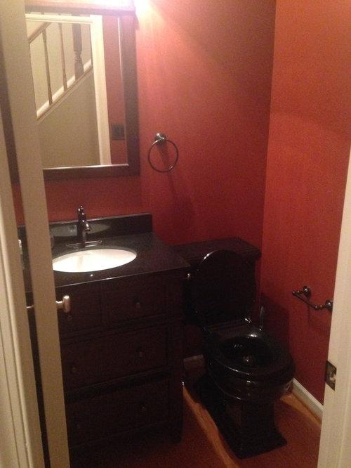 Dark Bathroom With Black Toilet Help With Color Decor Ideas