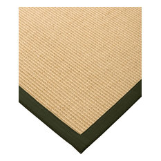 Natural Area Rugs Aristocrat Sisal Moss Extra Wide Border, Beige, 9' X 12', Rect