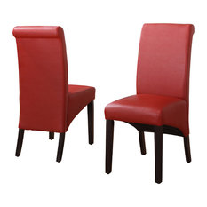 Modus Furniture International Inc   Cosmo Sleigh Back Chairs, Set Of 2, Ruby