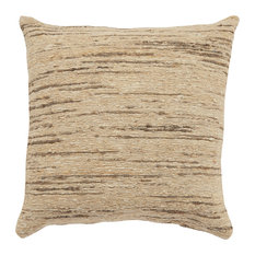 """Jaipur Living Sheesha Beige/Gray Textured Down Throw Pillow 20"""", Poly Fill"""