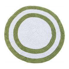 "Saffron Fabs 100% Cotton 36"" Round 2-Tone Reversible 200 GSF Bath Rug, Sage Gree"
