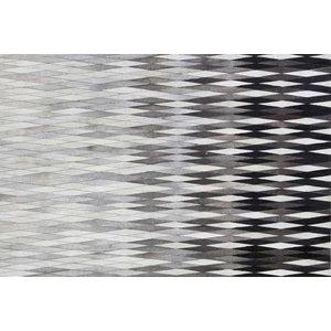 Linie Dynasty Leather Rug, Grey, 140x200 cm