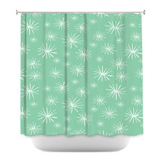 DiaNoche Designs   DiaNoche Designs Shower Curtain By Traci Nichole Design    Dandelions Parsley   Shower