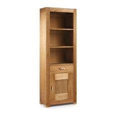 librera natural con cajon material madera de mindi libreras