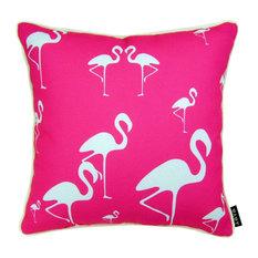 "Flamingo Dance Pillow, 16""x16"""
