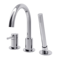 Oxford Deck Mount Faucet With Polished Chrome Finish