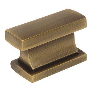 1-1//4 Diameter 4950BAB 25 Pack Cosmas 4950BAB Brushed Antique Brass Cabinet Hardware Round Mushroom Knob 25 Pack
