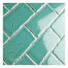 "2.5""x5.13"" Nove Subway Ceramic Wall Tile, Set of 60, Teal"