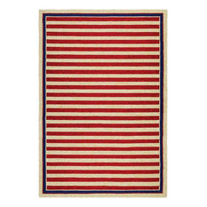 """Couristan Covington Nautical Stripes Rug, Red and Navy, 3'6""""x5'6"""