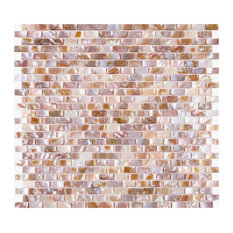B03S Walls Tiles Mother of Pearl Shell Tile Mosaic I-Shaped Rectangle Home Decor