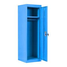 Costway 48'' Kid Locker Safe Storage Single Tier Metal Lockers And Key Blue