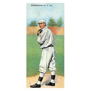 New York Giants Christy Mathewson Baseball Card Print
