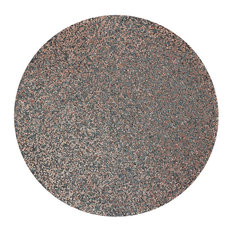 Sparkles Home Luminous Round Rhinestone Placemat - Charcoal Rose Gold