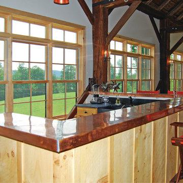 Vintage Timber Frame Barn Addition