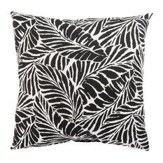 "Jaipur Living Malkus Fresco Black/White Floral Indoor/Outdoor Throw Pillow 20"""