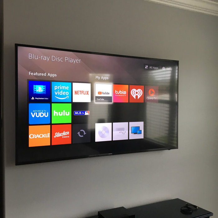 Sunbright outdoor TV, Sonos Playbar with Subwoofer and TV installations with wir