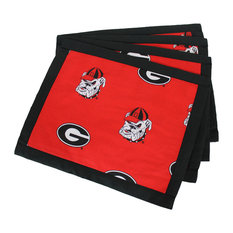 Georgia Bulldogs Placemat With Border, Set, of 4