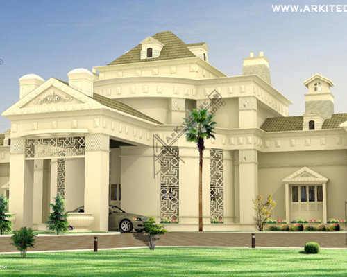 Indian home design Luxury islamic architecture style bungalow Design