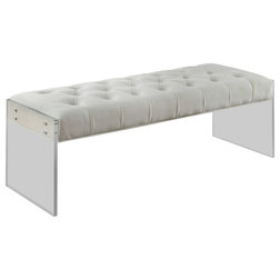 Contemporary Upholstered Benches by Meridian Furniture