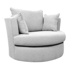 Westbridge Classic Swivel Chair, Small, Ash