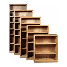 Bullnose Bookcase, Medium Oak, 60h