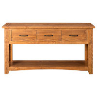Martin Svensson Home Rustic Sofa Console Table, Honey Tobacco