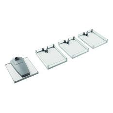 Convoy Lavido Arena Plus 4 Tray Set, Chrome, Gray