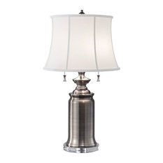 Stateroom Table Lamp, Antique Nickel