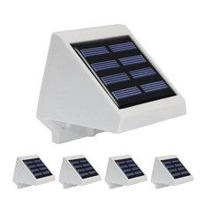Solar Powered Outdoor LED Step Light, Set of 4, Daylight