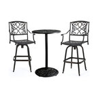 GDF Studio 3-Piece Paris Outdoor Copper Cast Aluminum Bistro Set