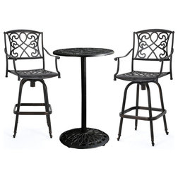 Mediterranean Outdoor Pub And Bistro Sets by GDFStudio