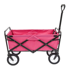 Collapsible Folding Outdoor Utility Wagon, Pink