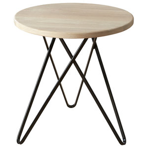 Jabo Furniture Paris Side Table, White Stained