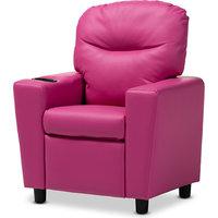 Evonka Kids Recliner Chair, Magenta Pink