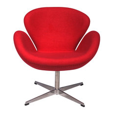 Modern armchairs and accent chairs houzz for Chaise arne jacobsen