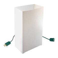 Electric LED Luminaria Kit With 6 Lanterns, White