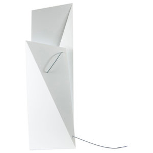 Geometric Steel Floor Lamp, White