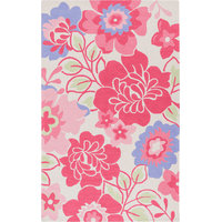 Floral and Paisley Area Rug Rectangle 5'x7'6""